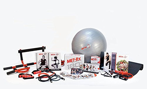 Met-RX-180-Degrees-Workout-System-Transforming-Every-Body-Fitness-Training-System-Includes-Pull-up-Bar-Exercise-Mat-Resistance-Bands-Nutritional-Books-Heart-Rate-Monitor-Exercise-Ball-Met-RX-Training-