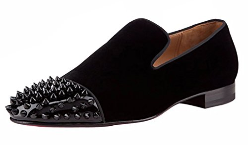 Cuckoo Slip On Oxford Shoes Men's Black Loafers Dress Shoes Black MiNUs6