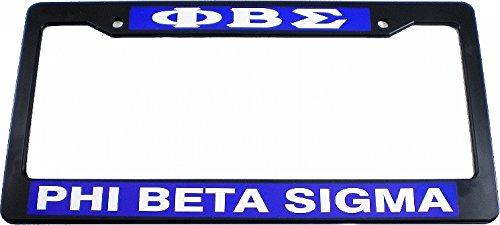 Plate Sigma License Phi Beta (Cultural Exchange Phi Beta Sigma Plastic License Plate Frame [Black - Car/Truck])