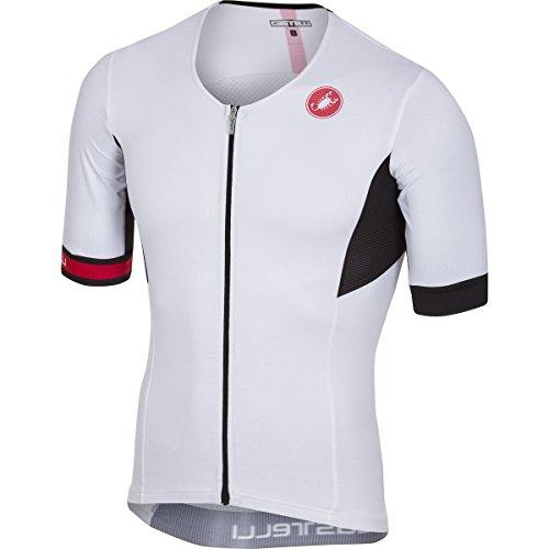 Tri Cycling Jersey - Castelli Free Speed Race Tri Jersey - Men's White, L