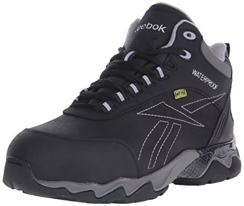 Safety Boots Metatarsal Guard (Reebok Work Men's Beamer RB1067 Work Shoe, Black, 9.5 M US)