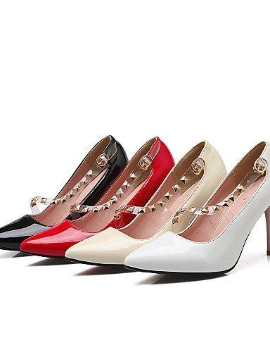 D'été Eu36 stiletto rouge Talon Orteil Ggx Uk4 De nbsp;carrière Cuir amp; us6 pointue Verni Femmes Cn36 Occasionnel Bureau Beige En Sequinblack Talons chaussures Des Ijkmn q4wXZBw