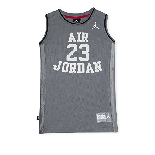 Nike Air Jordan Boy's Youth Classic Jersey, (10-12 yrs), Gray/White, Size Youth Medium]()