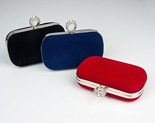 Clutch Ladies Birthday Wedding Rosy Handbag Bag Bag Bags Gift Red Satin Clutch Small For Women's Party Da Wa Evening PqzqZ