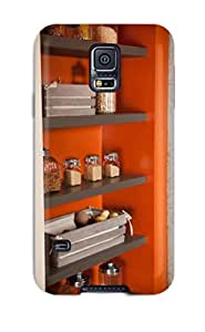 (KXqRVHM8692GtqCw)durable Protection Case Cover For Galaxy S5(gray Shelves In Laundry Room For Storage And Pantry)