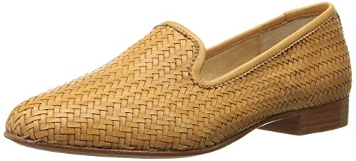 Leather Tracy Mocasines Frye mujer Grain Tan Woven Soft Zapatillas tejida Full la de 7xxpawqA