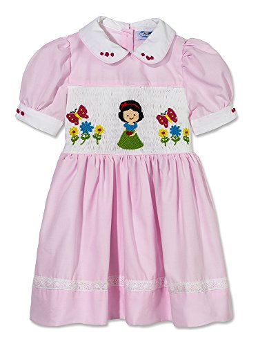 Baby Girls Pale Pink Hand Smocked Hand Embroidered