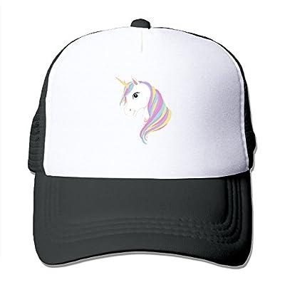 Adult Unicorn Print Caps Funny Baseball Mesh Hats For Men Womens Black