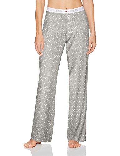 Tommy Hilfiger Women's Cotton Logo Bottom Pajama Pant, Heather Stars, S