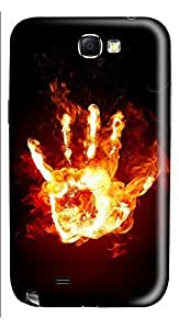 Samsung Note 2 Case Hand Stays Fire 3D Custom Samsung Note 2 Case Cover
