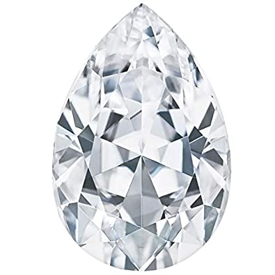 ec7aa590ace50 Amazon.com: Modern Gem Jewelry 1ct to 10ct VVS Color-D White Pear ...