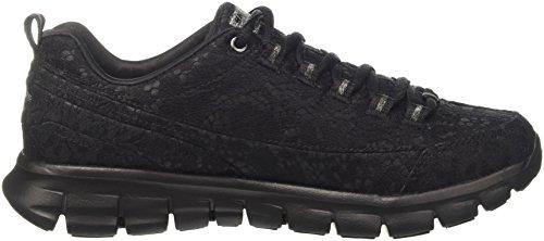 Skechers Synergy-Silky, Zapatillas para Mujer Negro (Bbk)