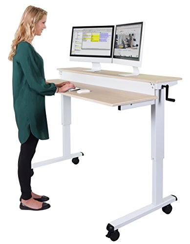 Crank Stand Up Desk White product image