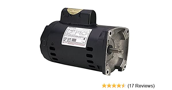 AO Smith B2852 3/4 HP, 3450 RPM, 1 Speed, 230/115 Volts, 5 4/10 8 Amps,  1 25 Service Factor, 56Y Frame, PSC, ODP Enclosure Square Flange Pool Motor