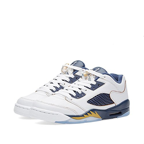 "fea98b87423c6a Galleon - Air Jordan 5 Retro Low (GS) ""Dunk From Above"" Big Kid s Shoes  White Metallic Gold Star-Midnight Navy 314338-135 (7 D(M) US)"