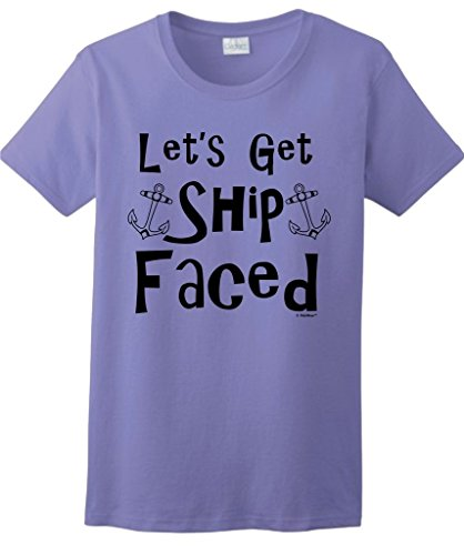Faced Funny Drinking Ladies T Shirt product image