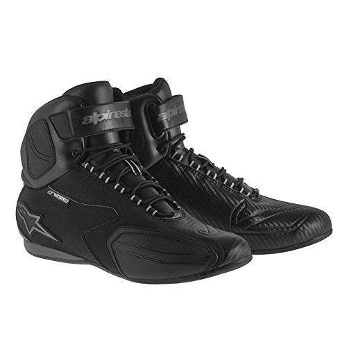 Alpinestars Faster Women's Waterproof Street Motorcycle Shoes - Black/Gray / 9