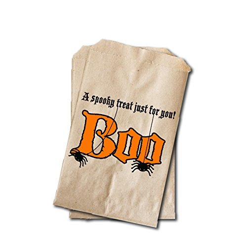 Halloween Candy Bags - Halloween Party Favor Bags - BOO A Spooky Treat Just For You - 6.25