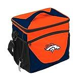 Logo Brands NFL Denver Broncos 24 Can Cooler, One Size, Carrot