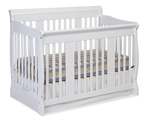 Stork Craft Tuscany 4-in-1 Convertible Crib, White