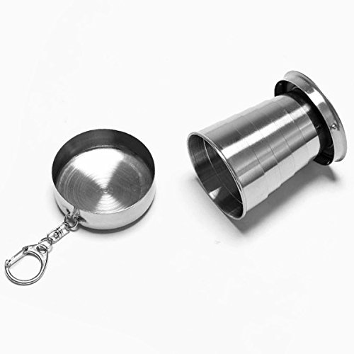 Stainless Steel Portable Outdoor Travel Camping Folding Collapsible Cup by Unknown (Image #5)
