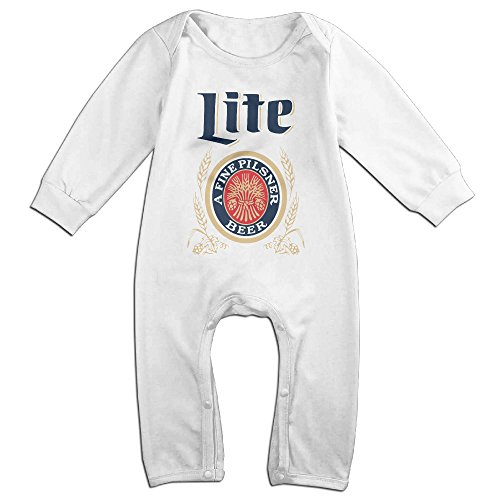 cute-miller-lite-beer-vintage-outfits-for-newborn-baby-white-size-6-m