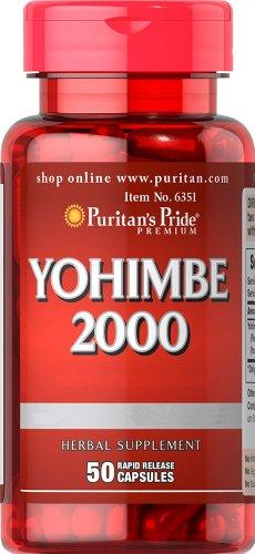 Puritan's Pride Yohimbe 2000 mg-50 Capsules