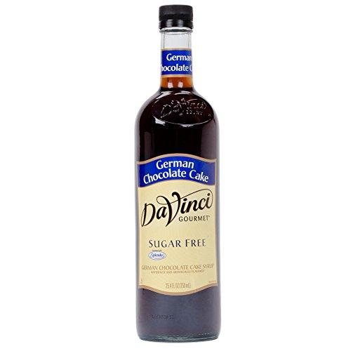 DaVinci SUGAR FREE German Chocolate Cake Syrup w/ Splenda 750 ()