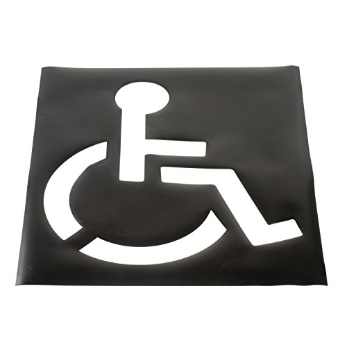 "Global Industrial Parking Lot Stencil, Handicapped Symbol, 37""x43"" Template"