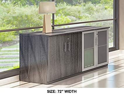 Amazon.com : Modern Low Wall Credenza, Gl and Wood Doors ... on consoles and credenzas, made in usa modern credenzas, modern sideboards with sliding door, country style credenzas, industrial modern credenzas, post modern credenzas, modern sideboards and hutches,