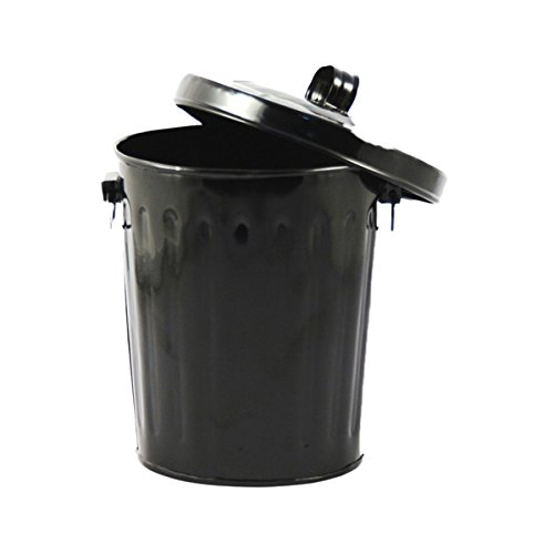 Black Enamel Mini Trash Can