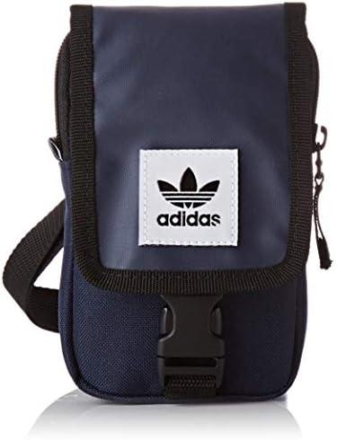 adidas Unisex Map Bag Umhängetasche, Schwarz, 24x15x45 centimeters