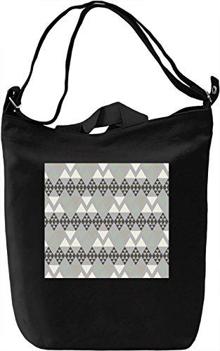 Ethnic Print Borsa Giornaliera Canvas Canvas Day Bag| 100% Premium Cotton Canvas| DTG Printing|