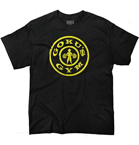 Gokus Gym Exercise Workout Gym Super Saiyan Dragon Ball Z T-Shirt Tee, Black, X-Large