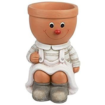 Indispensable Sitting Boy/Girl Large Planter (Neoteric Design) (B77) : [