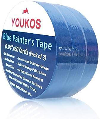 Youkos Painters Tape 3 Pk 60 Yards Multi Use Blue Painter S