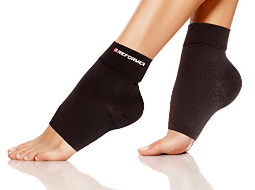 Compression Foot Sleeve (1 Pair) Toeless Plantar Fasciitis Socks for