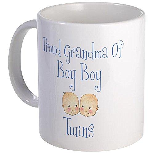 CafePress Proud Grandma Of Boy Twins Mug Unique Coffee Mug, Coffee Cup