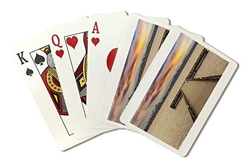 (Dock View of Bellevue, Washington Photography A-91368 (Playing Card Deck - 52 Card Poker Size with Jokers))