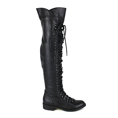 Static Combat Black Black Military Lace and Up Mark Women 05 Boot Thigh Footwear Maddux High Travis FWxr7w4qFH