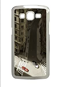 Cityscapes cars PC Case Cover for Samsung Grand 2 and Samsung Grand 7106 Transparent