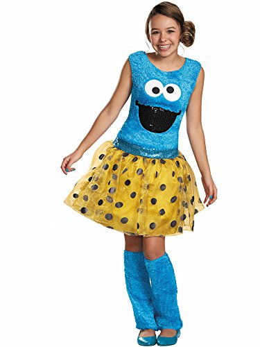 Disguise Sesame Street Cookie Tween Deluxe Costume, X-Large/14-16 -