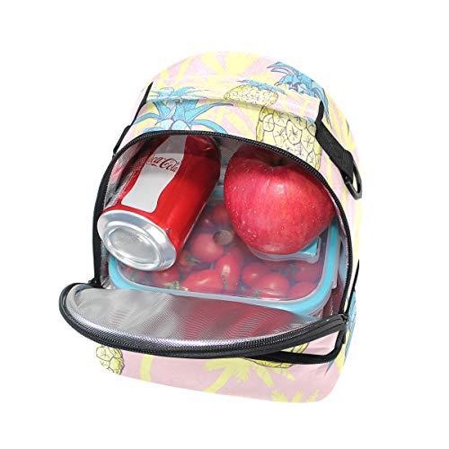 à avec Ananas isotherme Cooler lunch Motif Sac Tote réglable bandoulière Boîte l'école pour à Pincnic Alinlo 6Swzq1S