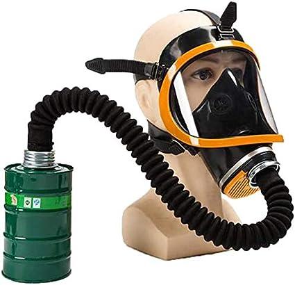 WUAZ Máscara de Gas de protección, mascarilla Facial Protección de los Ojos de Gas con Correa Ajustable, Completa Sello del respirador para Gas Orgánica