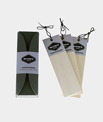 Belforte - plisada perfumadas para armarios y cajones - 3 piezas - Cuero de Rusia: Amazon.es: Belleza