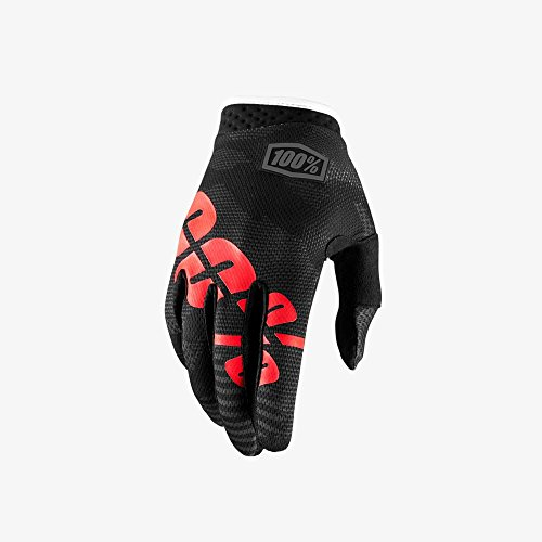 Camouflage Black Silicone (Orange Cycle Parts Men's iTRACK Racing MX Motocross Gloves by 100% 10002-061-12 (Large, Black Camo, Red / Black))