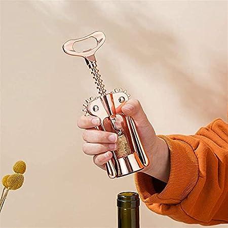 Sacacorchos de vino de oro rosa sacacorchos abridor de botellas dispositivo de elevación de botellas abridor de botellas imán de cocina Gadgets abridor de botellas-sacacorchos