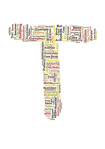 Amazon Com Personalised Word Cloud Art Letter T A5 Print Only