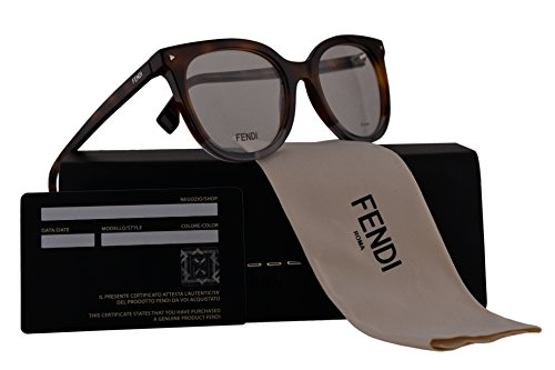 Fendi FF0235 Eyeglasses 51-19-140 Havana Grey w/Demo Clear Lens AB8 FF - Fendi Spectacle Frames