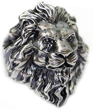 LINSION Huge 925 Sterling Silver King of Lion Ring Mens Biker Punk Ring TA128
